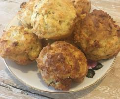 Coles Magazine Ham & 3-Cheese Muffins Converted recipe