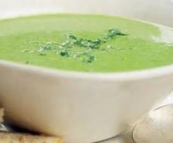 Broccoli, Cauliflower & Tofu Soup