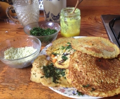 Besan flour pancakes Gluten/egg Free