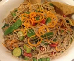 Warm Soba Noodle Salad