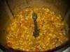 Leftover dinner risotto