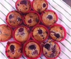 White Chocolate & Raspberry Muffins (Dairy Free options)