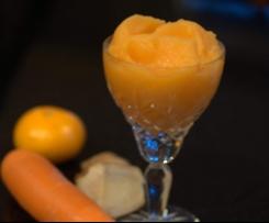 Carrot, ginger & Mandarin Sorbet