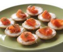 Mini Smoked Salmon Pikelets