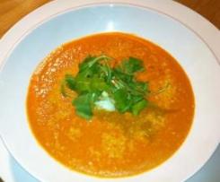 Creamed Tomato soup with Parmesan, Feta & Italian Herbs