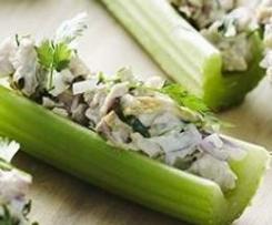 Celery & Chicken Boats