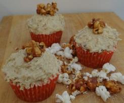 Buttered Caramel Popcorn Cupcake