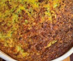 Crustless bacon and broccoli quiche