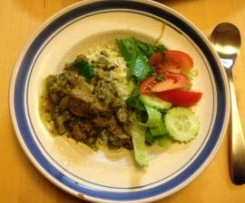 Rhubarb and Lamb Khoresh (Persian Stew) and Pilaff Rice