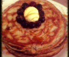 quick blueberry pancakes