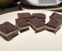 Chocolate Peppermint Slice (old fashioned)