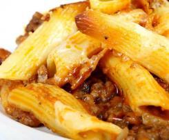 Mince & veggie pasta bake