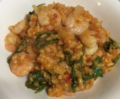 "Weight Watchers ""Oven-baked prawn risotto"""