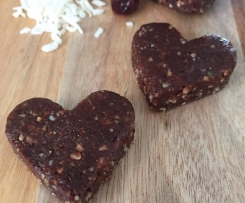 Heart Shaped Bliss Balls - Nut Free
