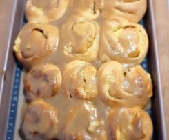 Lemon Curd & Cream Cheese Scrolls with Vanilla glaze