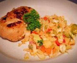 Marinated Chicken with White Cabbage Salad
