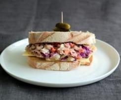 Leftover ham & slaw sandwiches
