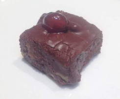Santa's cherry chocolate fudge