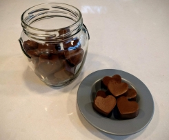 Dark chocolate and coconut jellies