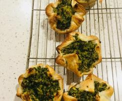 Vegan Spinach and cashew pies
