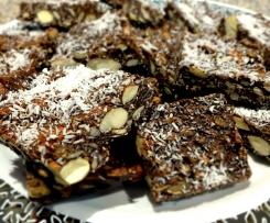 LCHF Chocolate Nutty Crunch, Dairy Free with Paleo option