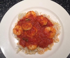 Chilli, Garlic Tomato Prawns