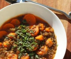 Carrots and French Lentils with EVOO