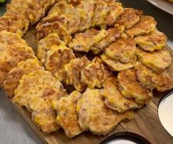 Black swan Cafe's Corn fritters