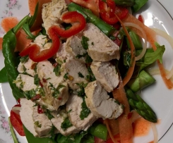 Warm Chicken Salad with Lime Dressing