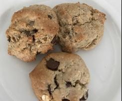 Dairy, Egg Free Variation of Peanut Butter Choc Chip Cookies