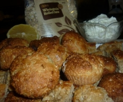LEMON,YOGHURT AND OATMEAL MUFFINS