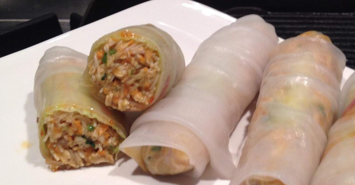 Chicken Noodle Rice Paper Rolls by loulou121. A Thermomix ...