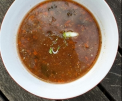 Tomato and Brown Lentil Soup
