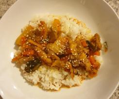 Easy chicken kimchi