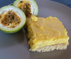 Tangy passion fruit slice