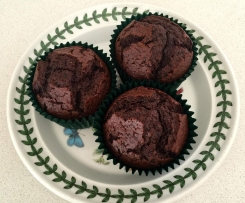 Chocolate, Beetroot and Blueberry muffins