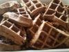 Spelt Chocolate Banana Dark Choc Chip Waffles