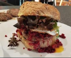 Kel's healthy hidden veggie hamburger patties