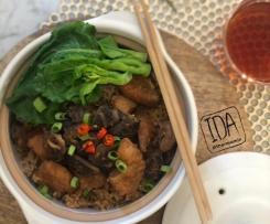 Claypot Mushroom Chicken Rice