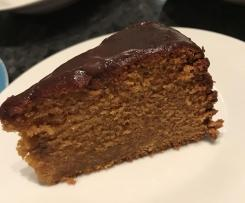 Sweet Potato Caramel Mud Cake with Butter Ganache (Variation)