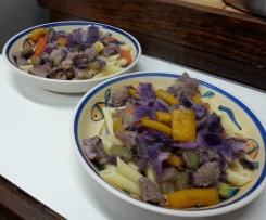 Clone of pork and pasta stir-fry