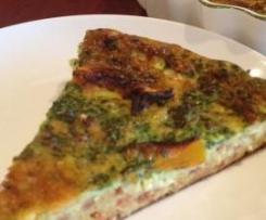 Pumpkin,chorizo and spinach frittata