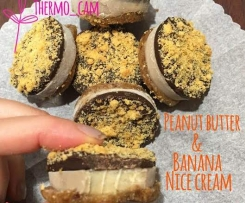 Peanut Butter & Banana Choc Nice Cream Cups