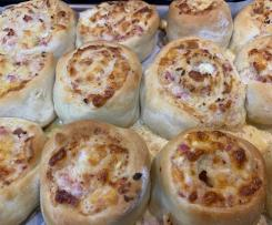Cheesy Bacon Scrolls
