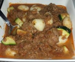 Beef, Tomato & Gnocchi Casserole