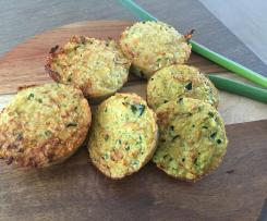 Ham and Cheese Gluten Free Quinoa Muffins (Dairy Free Variations)