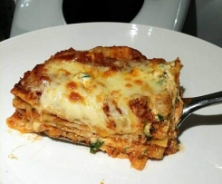 Lasagna with Cheese sauce