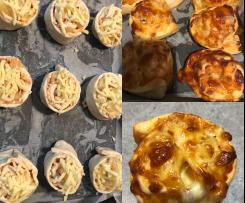 Pineapple and cheese scrolls