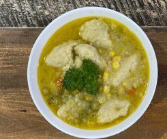 Grießklöschensuppe (German Dumpling soup)