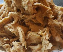Shredded chicken style seitan (vegan meat)